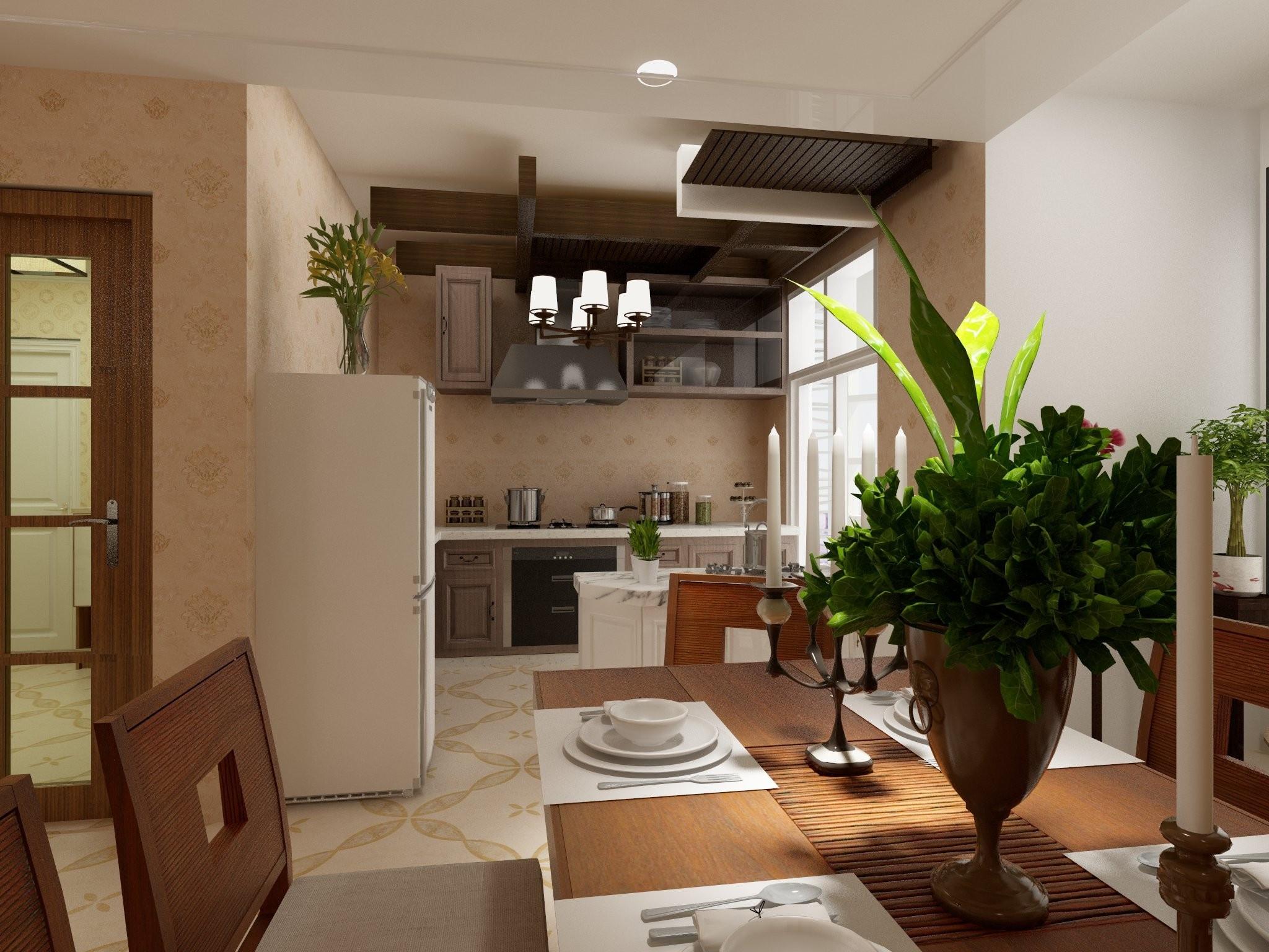 混搭二居装修厨房设计图