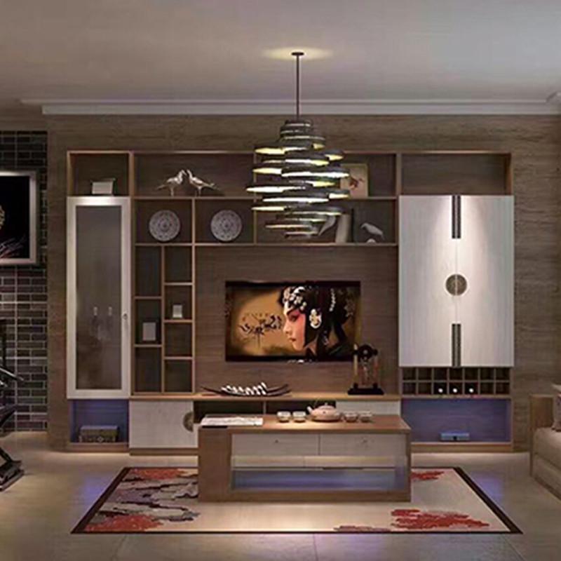 联邦高登家具定制新中式电视背景墙