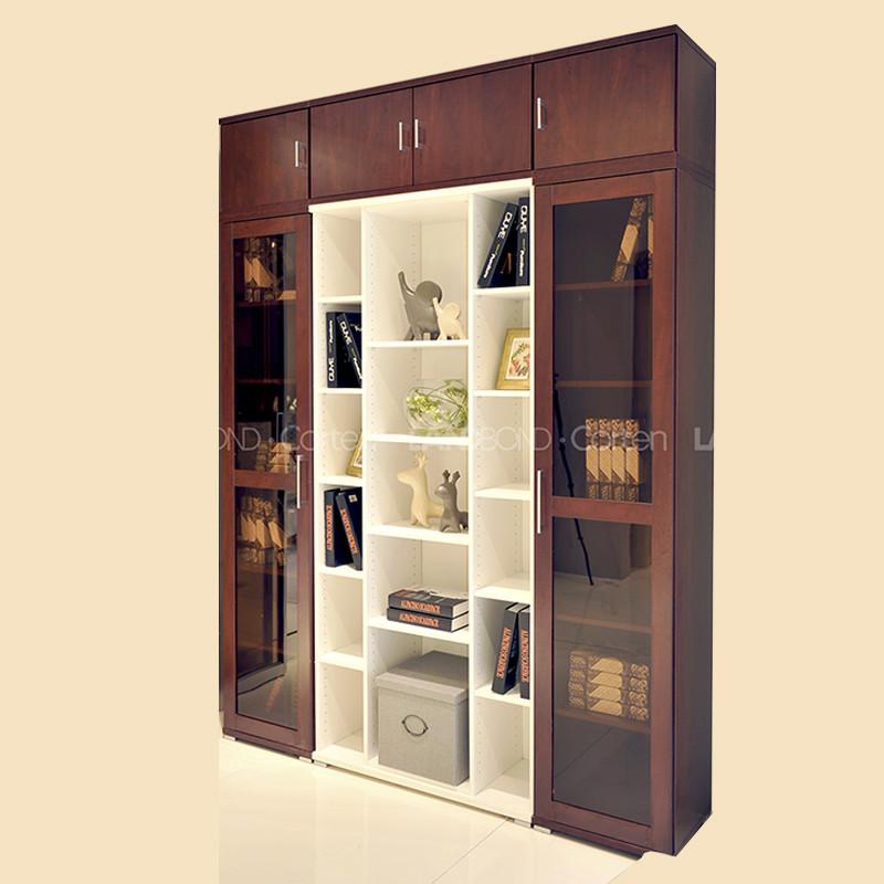 联邦高登家具定制中国红书柜