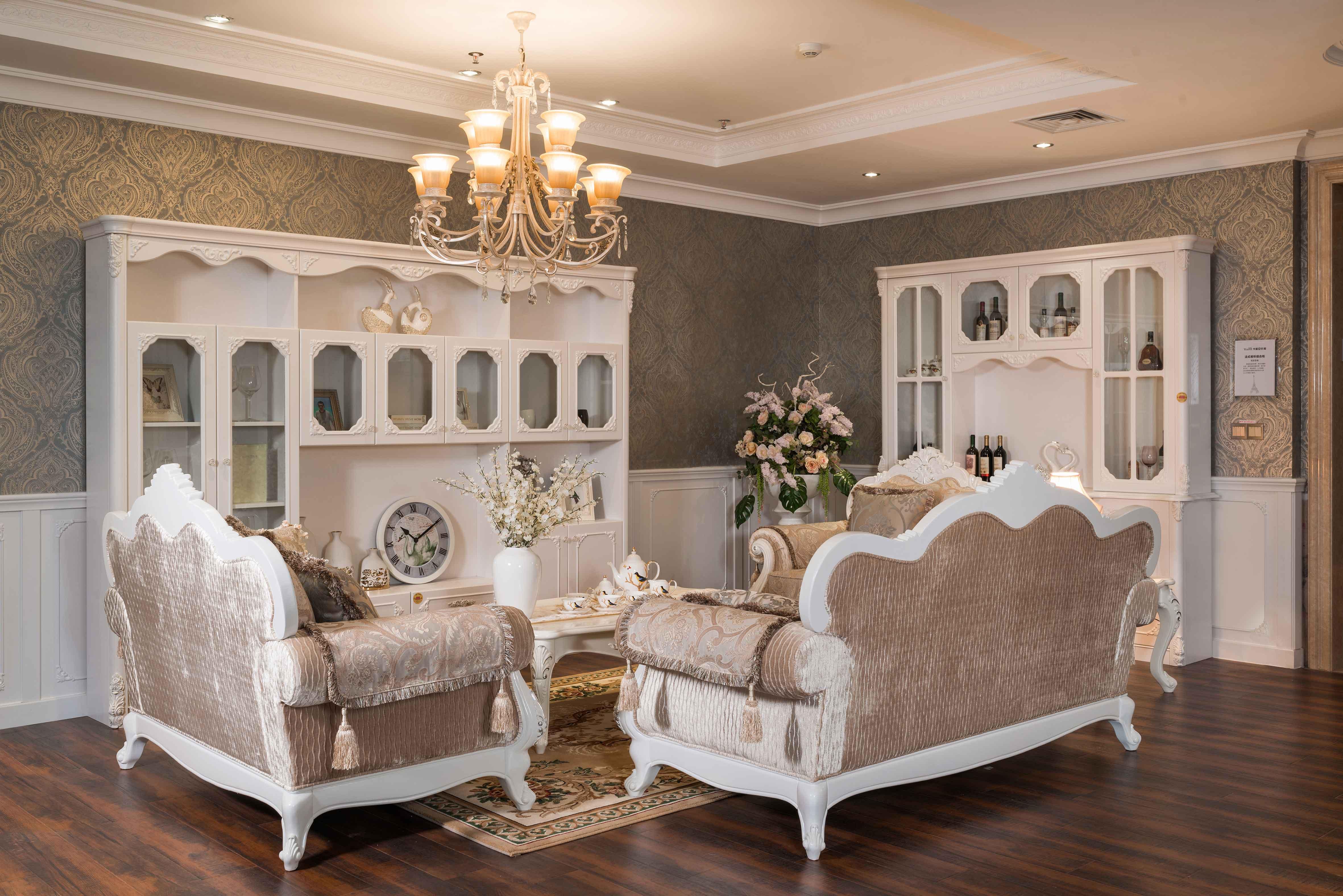 法式风格客厅套
