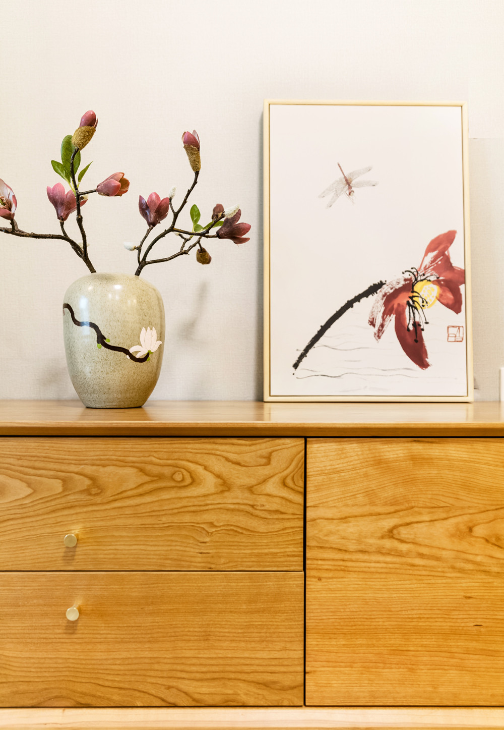 二居室日式风格家电视柜装饰摆件
