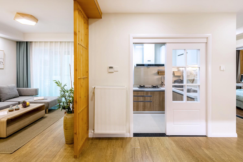 二居室日式风格家厨房推拉门