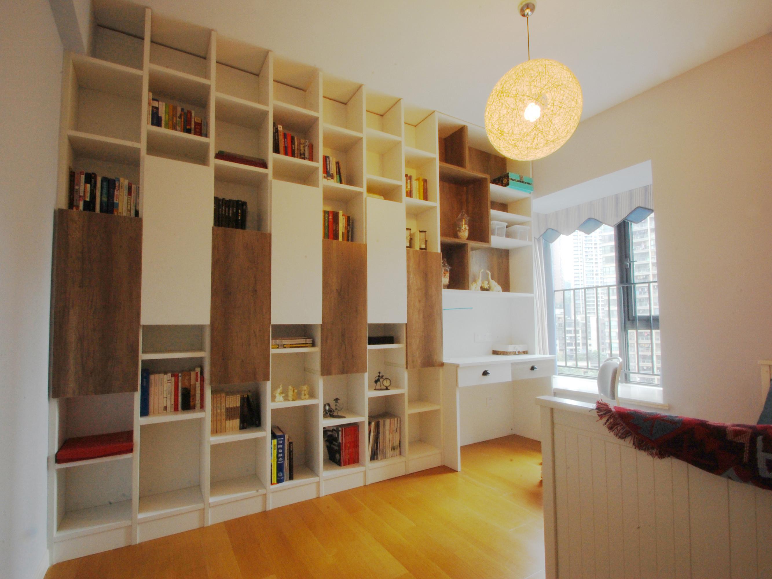 北欧三居空间书柜图片