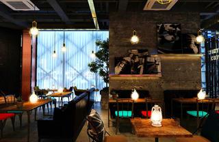 咖啡吧装修餐桌背景墙图片