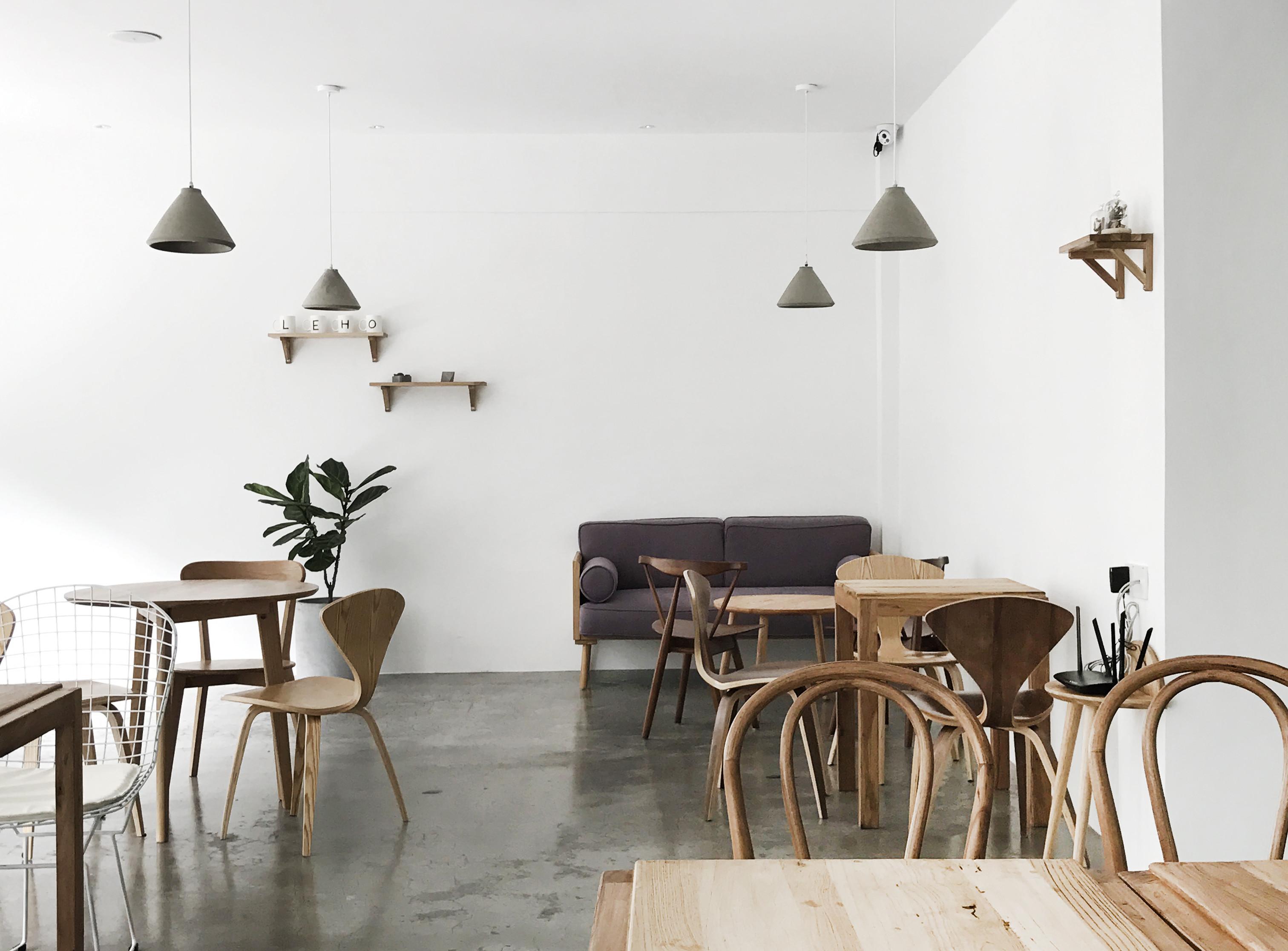 极简猫咪咖啡厅装修座位区设计图