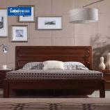焦作雅宝家具 实木床1.8米现代新中式简约榆木双人床