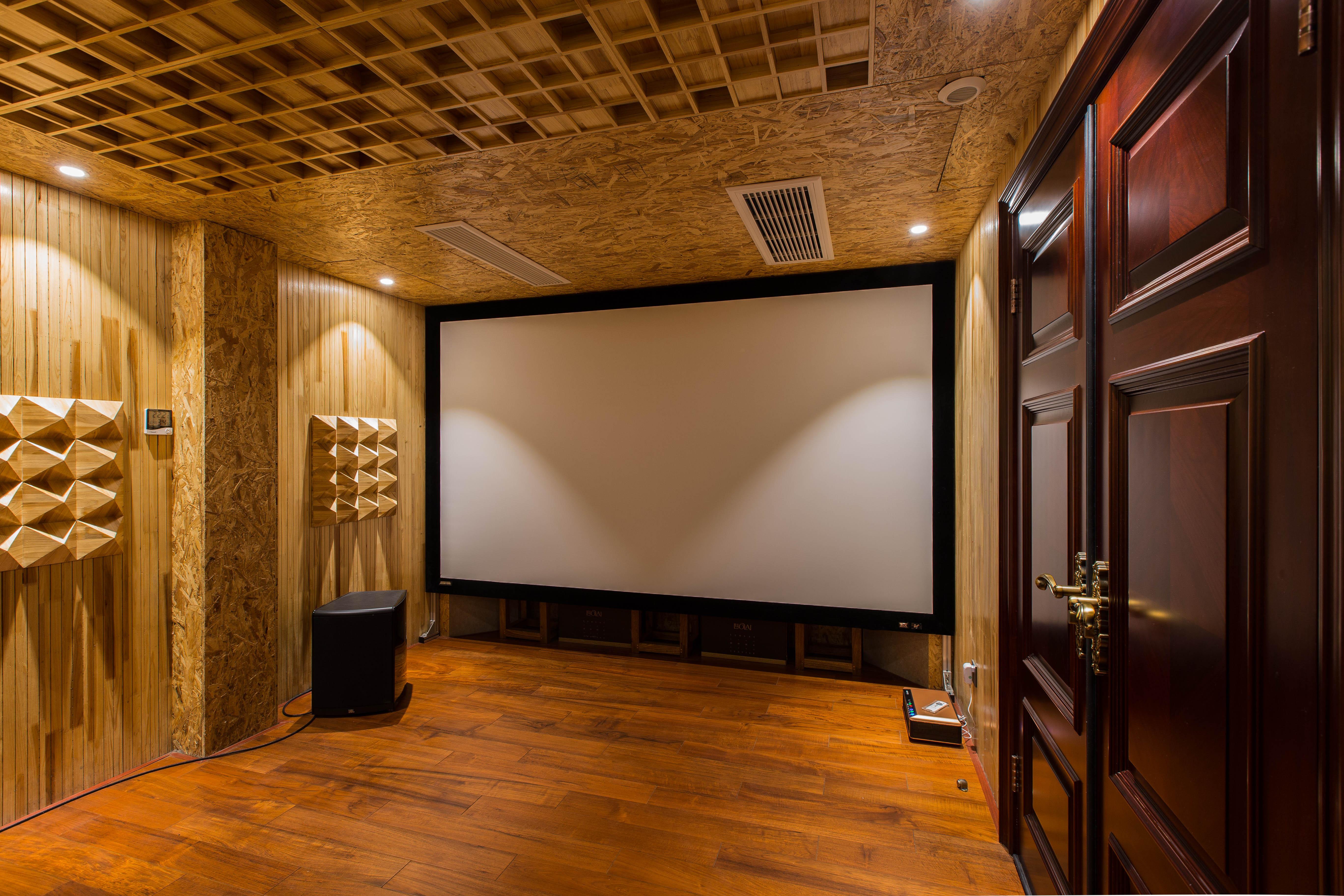 大户型新古典混搭装修影音室墙面设计