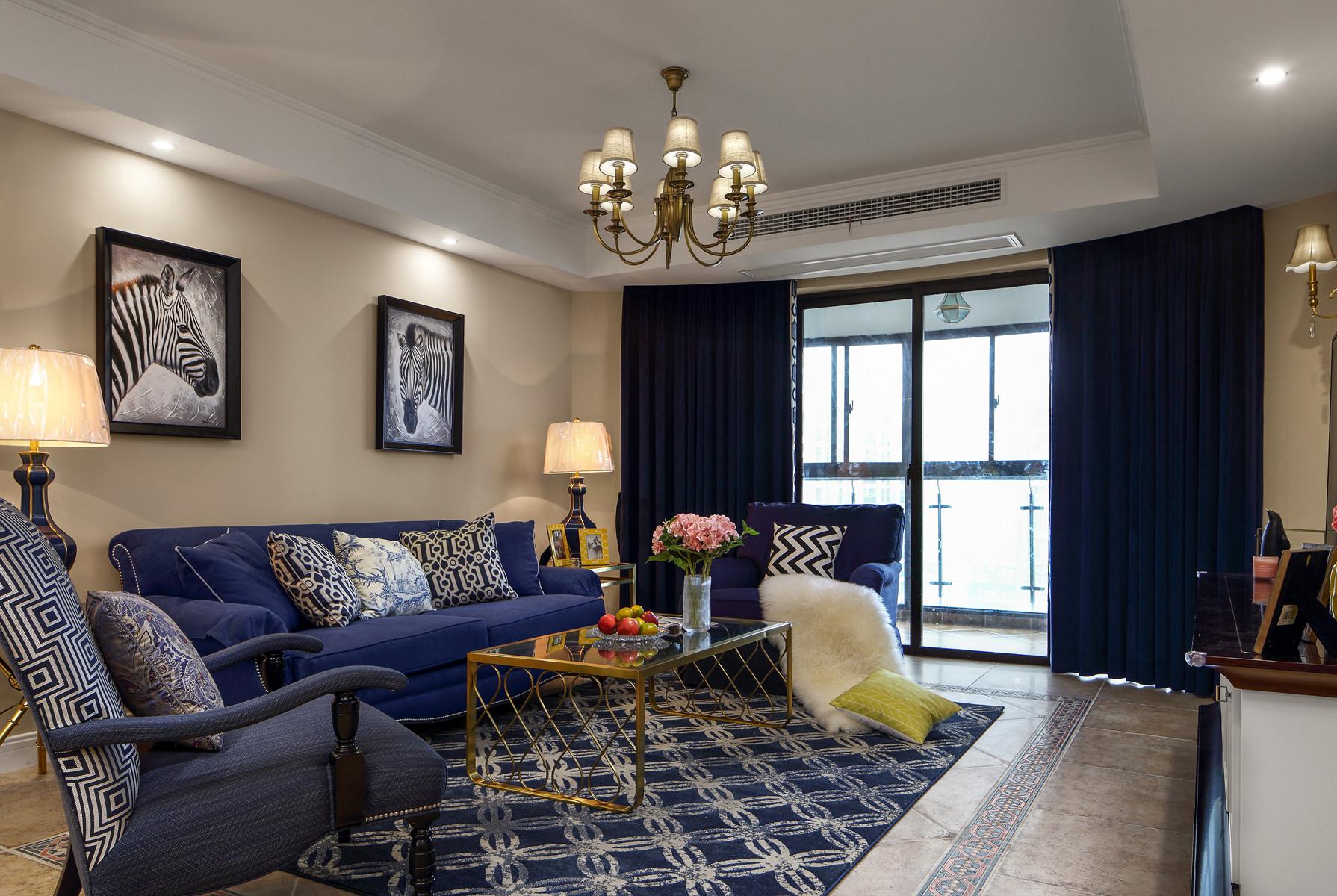 美式四房装修客厅搭配图