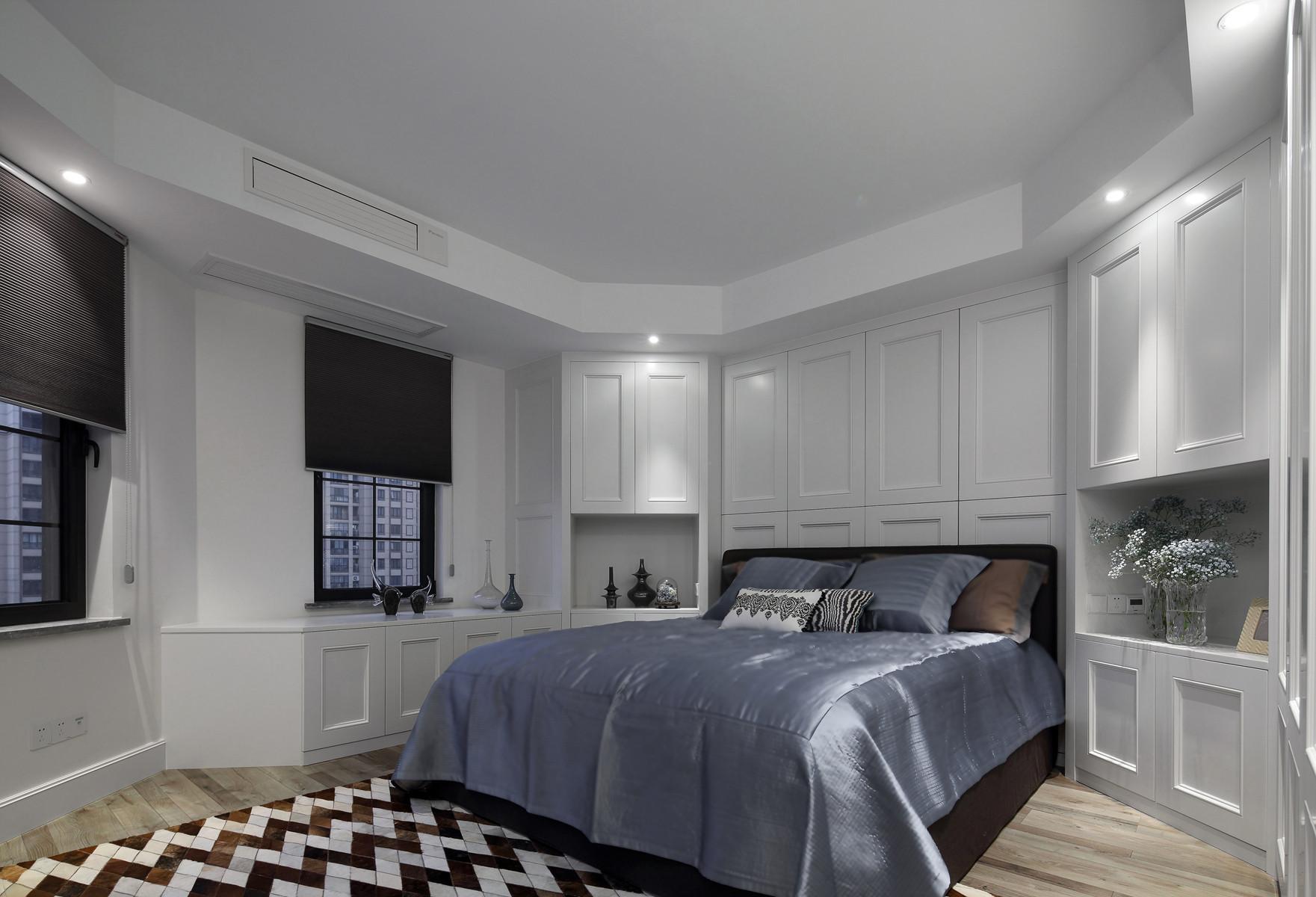 220平现代美式家卧室设计图