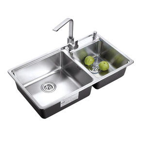 墨林水槽W-275一體拉伸水槽水斗洗菜盆雙槽