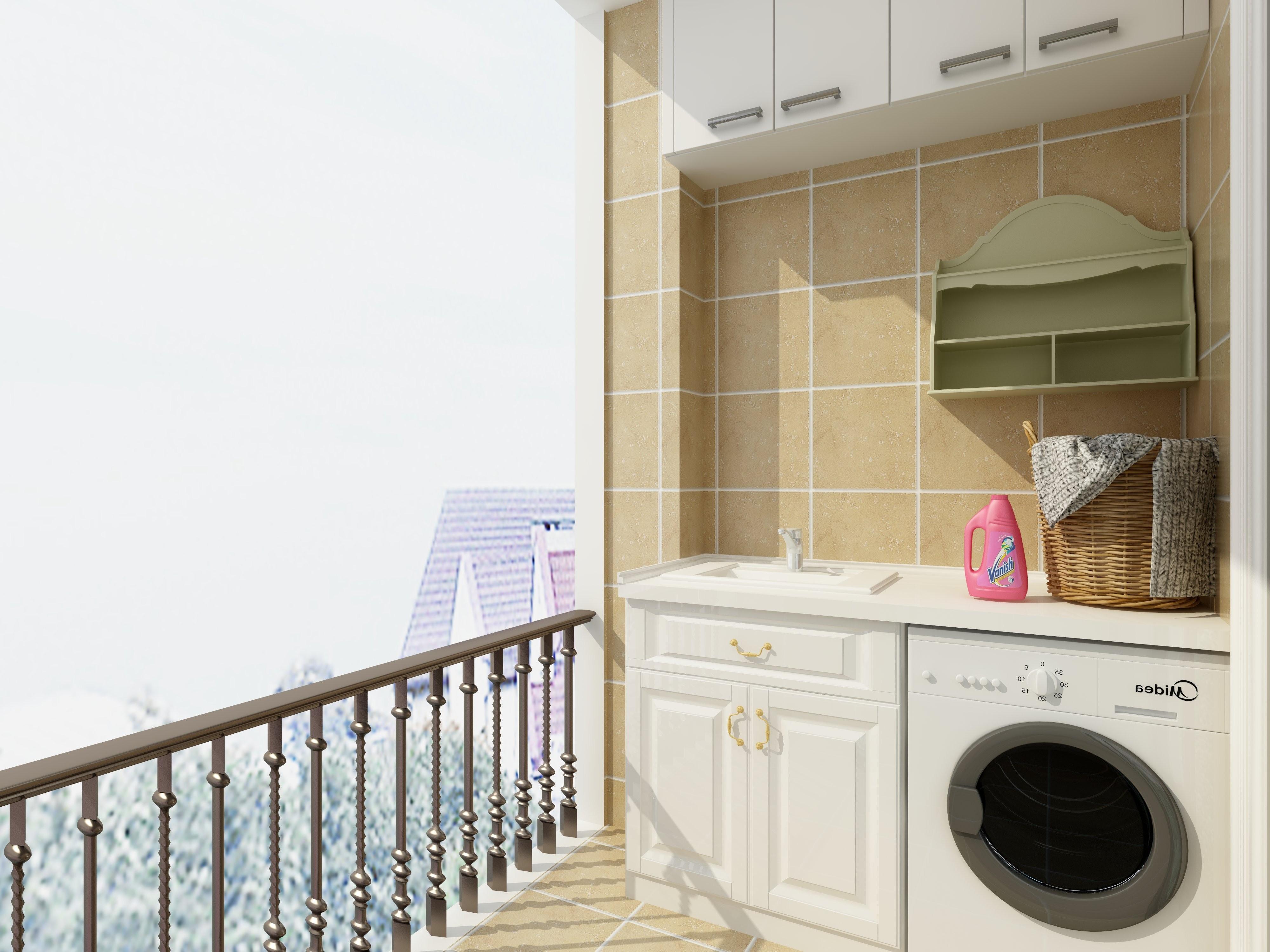 90平简约三居装修阳台设计图