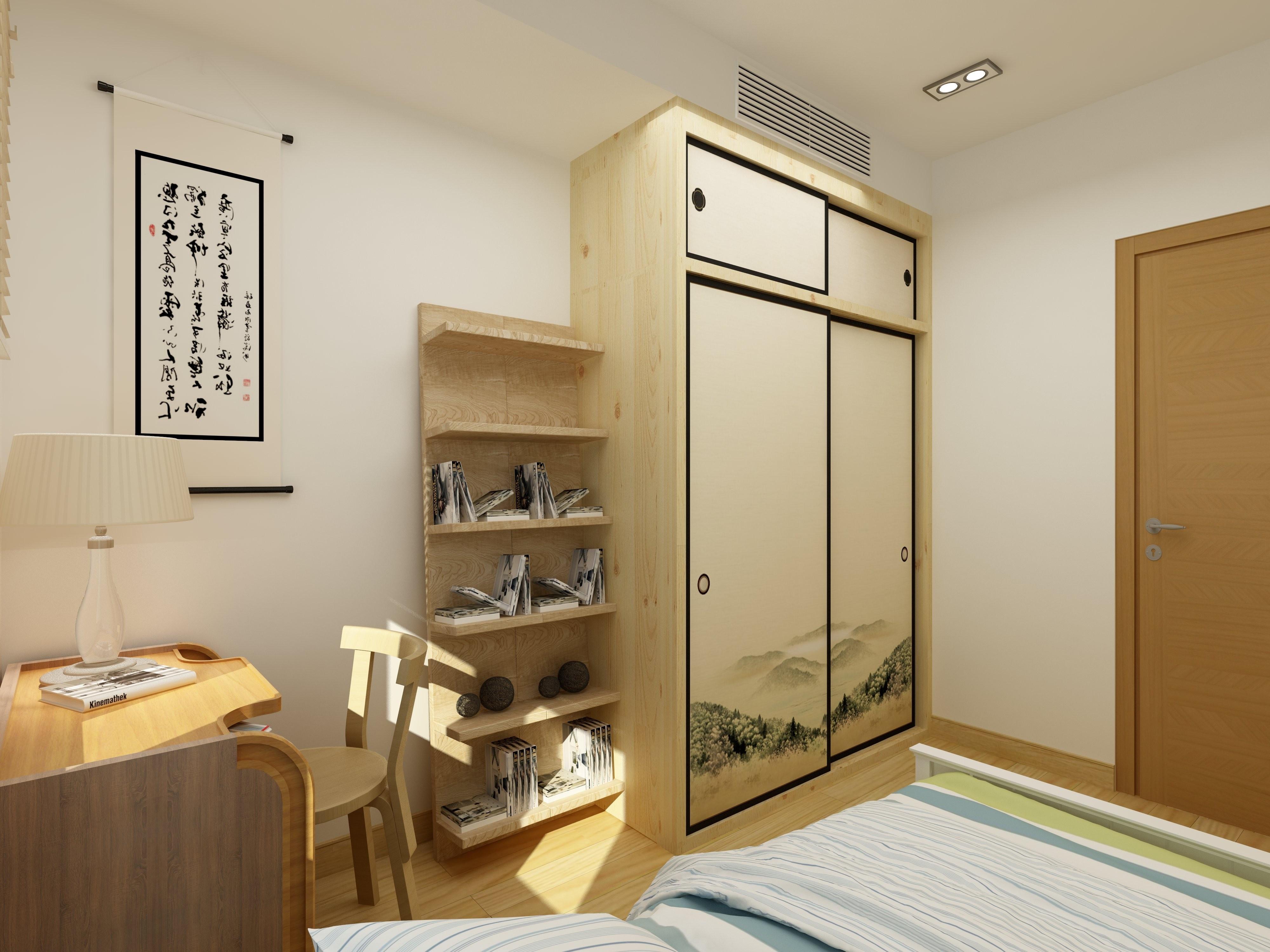 日式二居装修次卧效果图