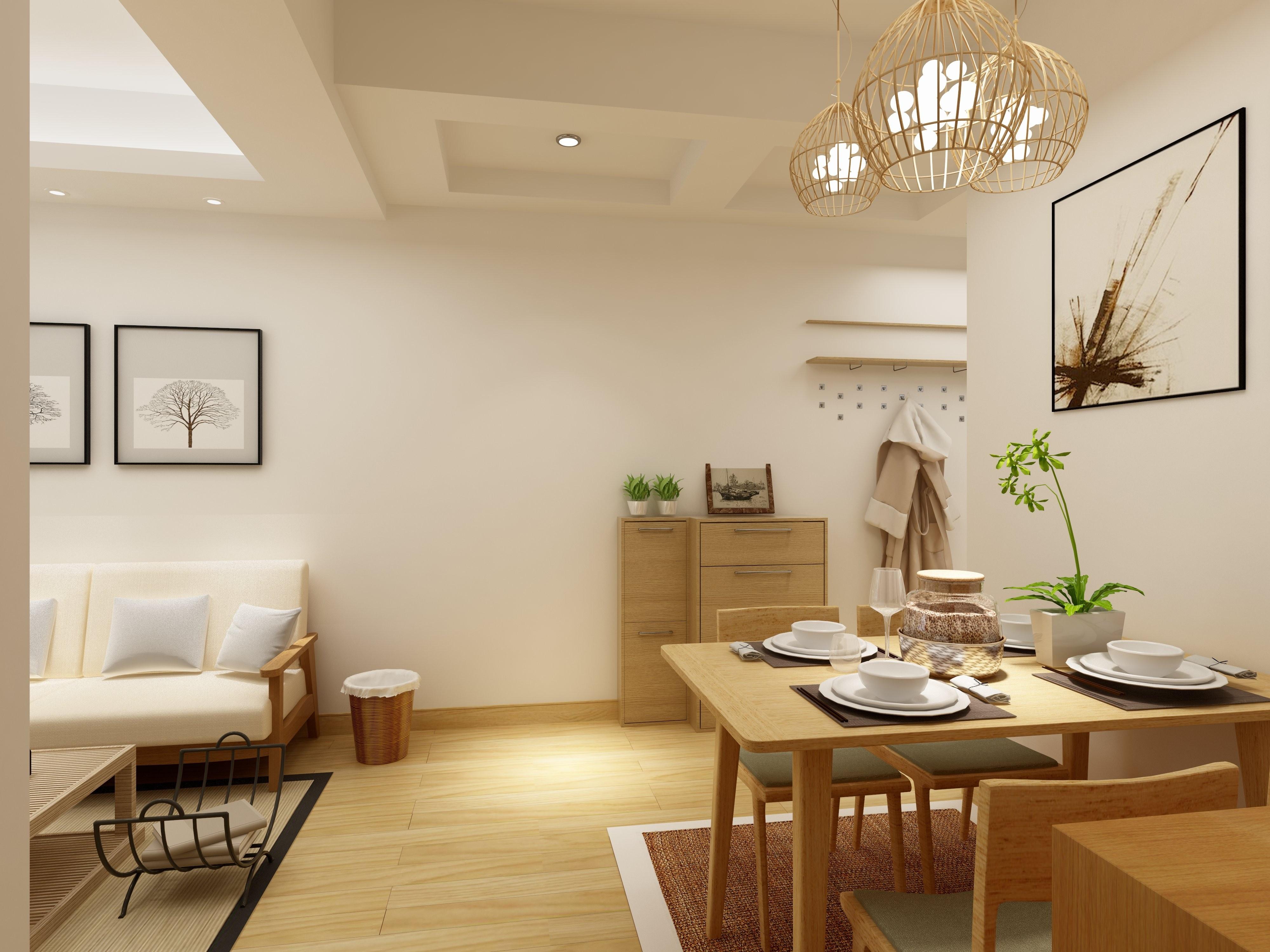 日式二居装修餐桌图片