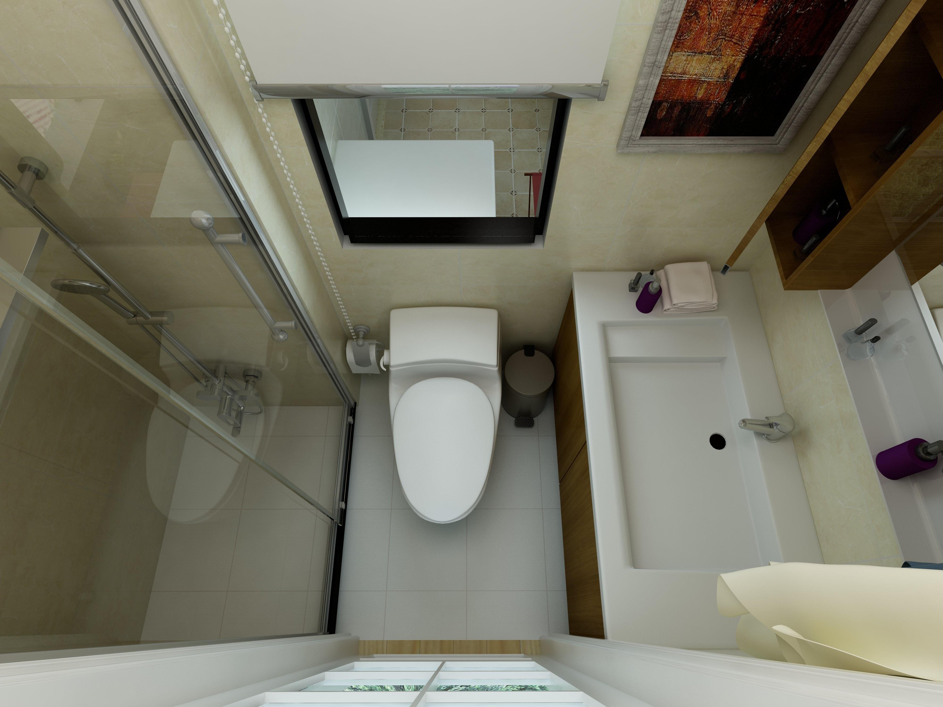 日式二居装修卫生间效果图