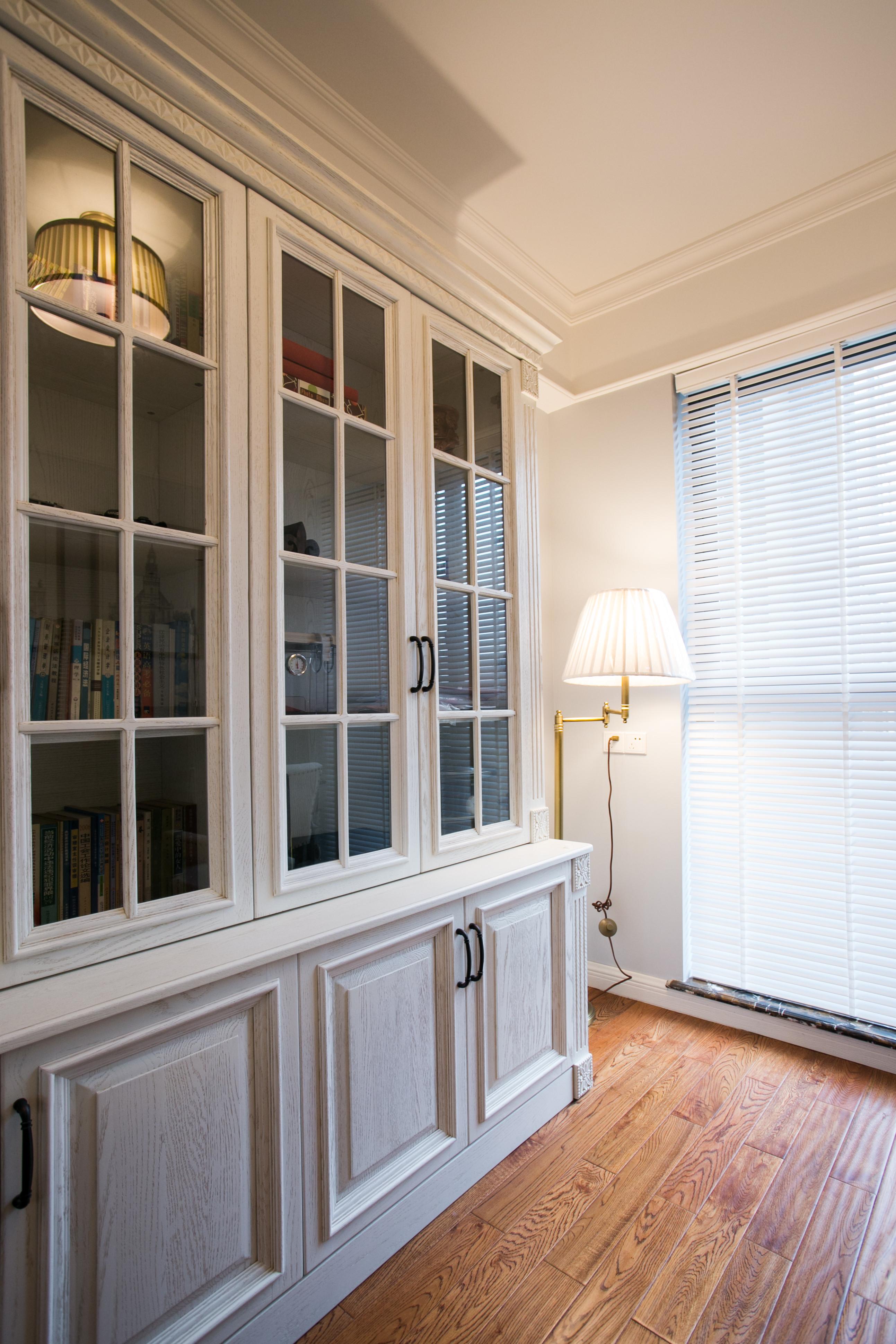 90平美式风格家书柜图片