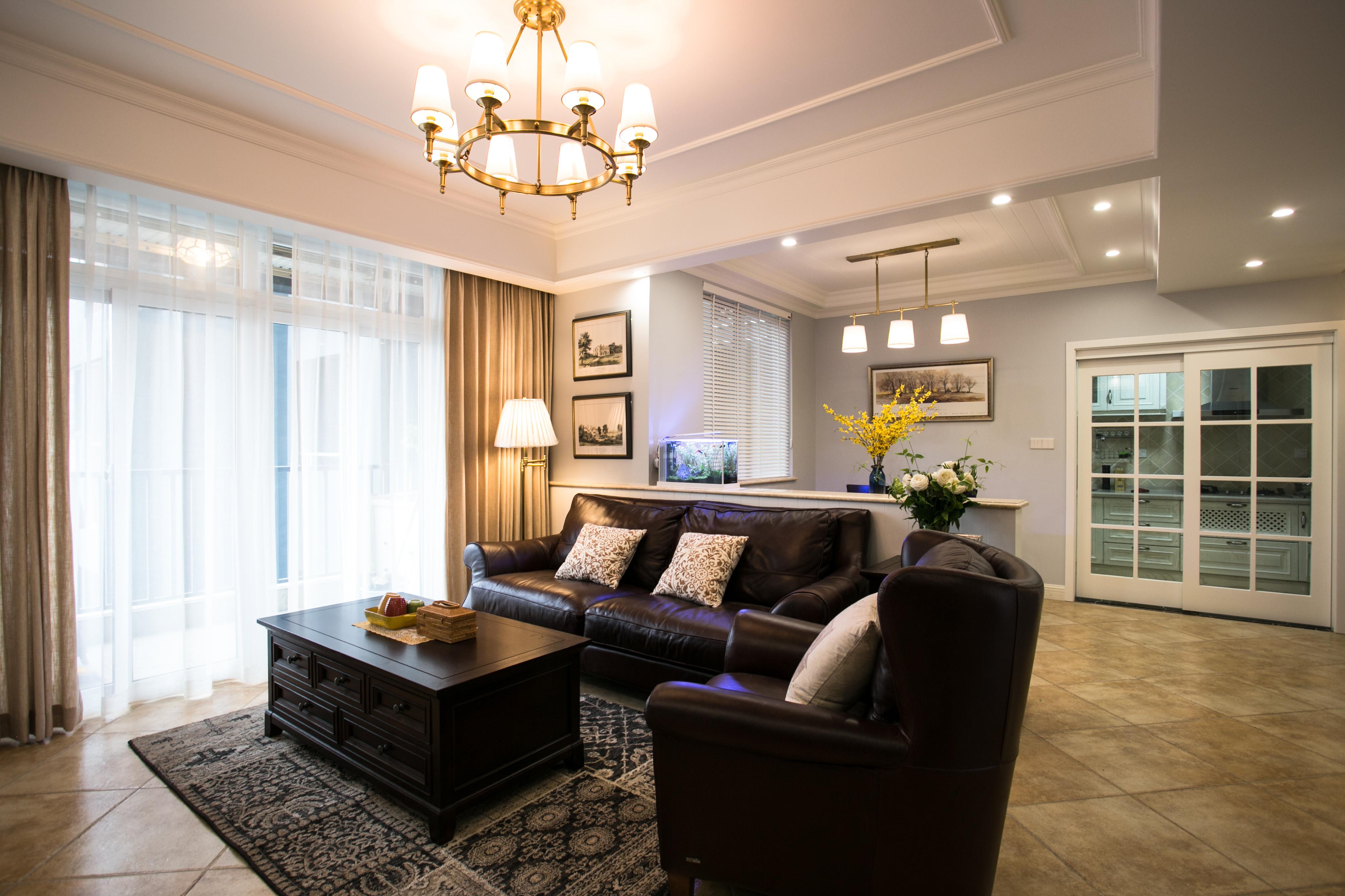 90平美式风格家沙发图片