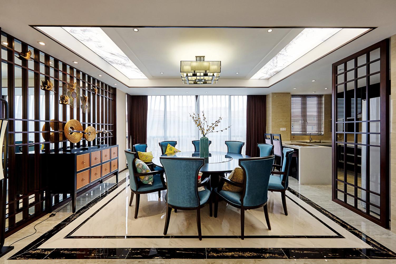四居室中式风格家餐厅设计图