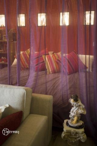 现代简约一居装修蚊帐图片