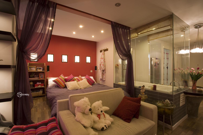 现代简约一居装修卧室设计图