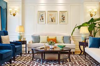 美式别墅装修沙发墙图片