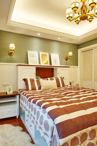 美式别墅装修卧室布置图
