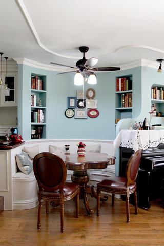 美式风格二居装修餐厅设计图