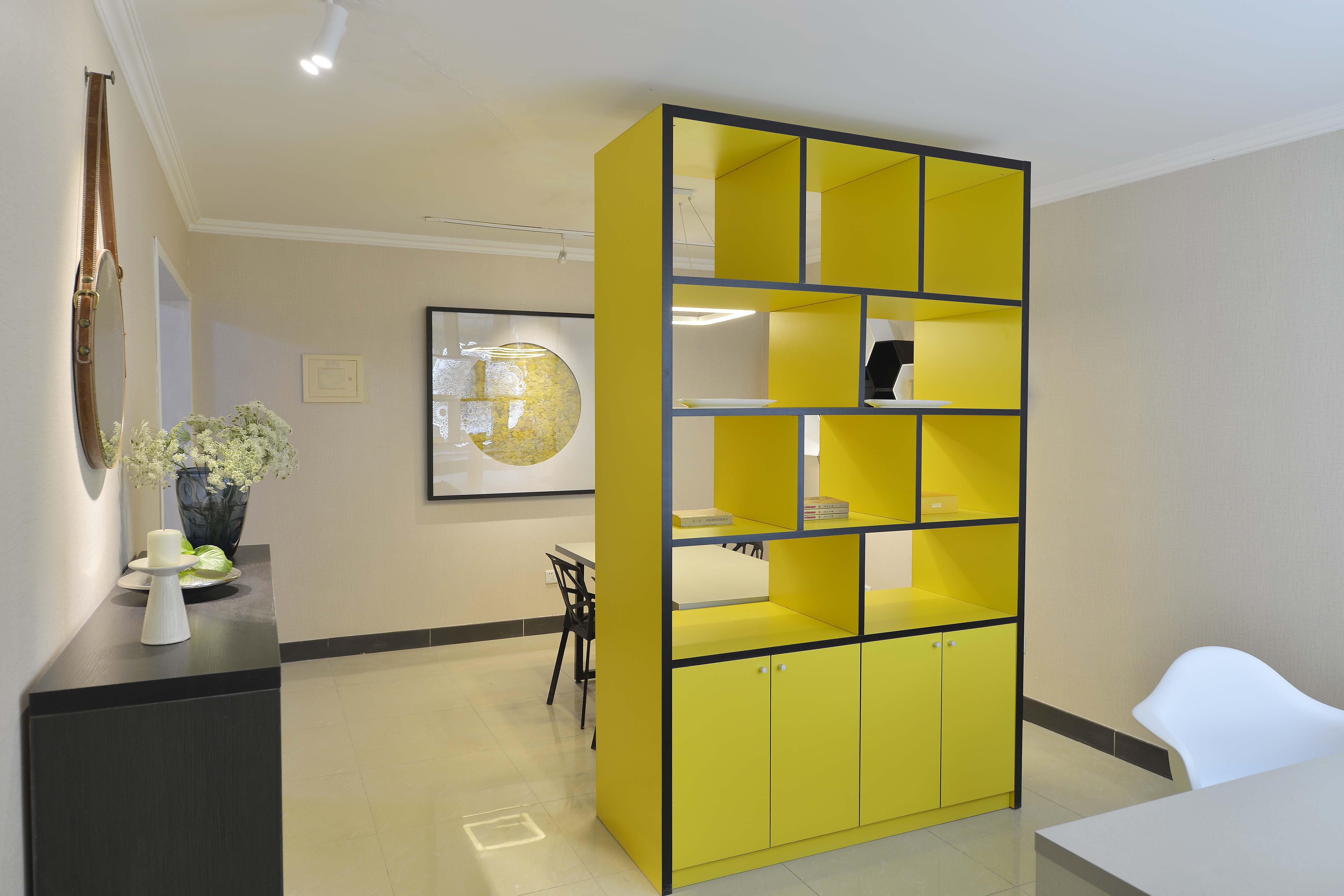 130平简约空间隔断柜设计
