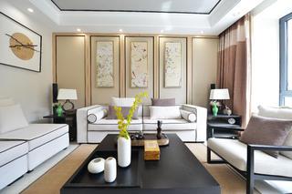 120平中式风格家客厅布置图