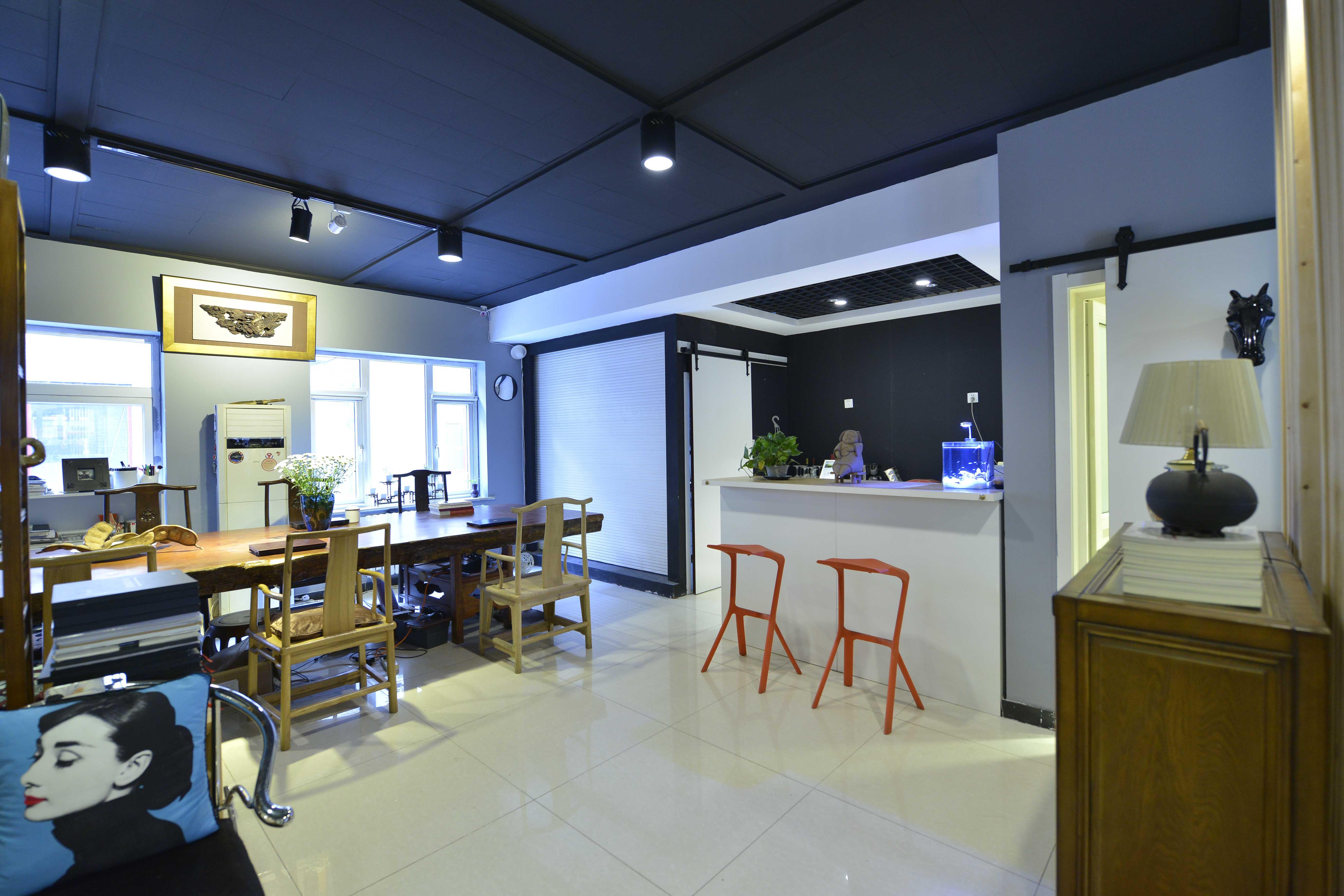 中式风格工作室装修茶水间设计图