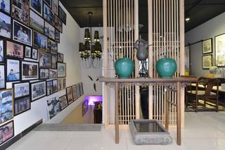 中式风格工作室装修玄关设计