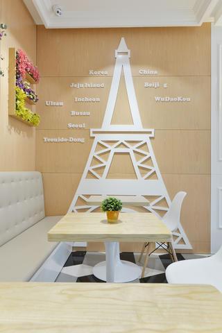 80平小清新咖啡厅装修造型墙面设计