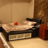 商场样品多功能可调节靠头带床柜储物牛皮床软床180*200