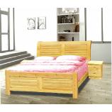 1.5米松木床+送3公分厚纯棕垫