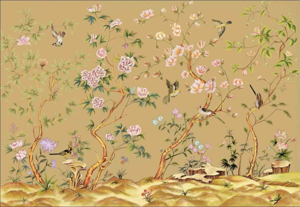 壁画儿童房墙画欧式美式无纺布真丝布墙画大包图片