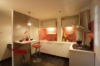 60平小户型简约风装修厨房设计图
