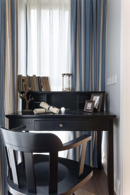 90平美式二居装修书桌图片