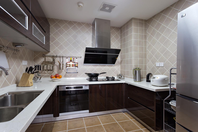 160平现代中式厨房设计图