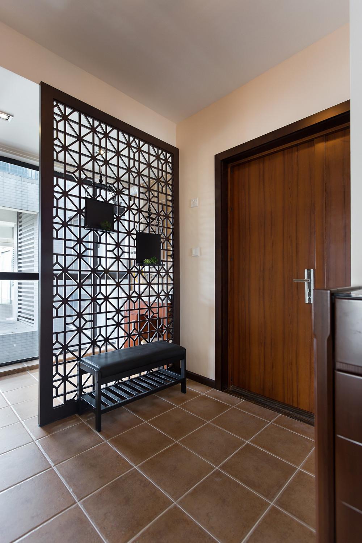160平现代中式门厅设计