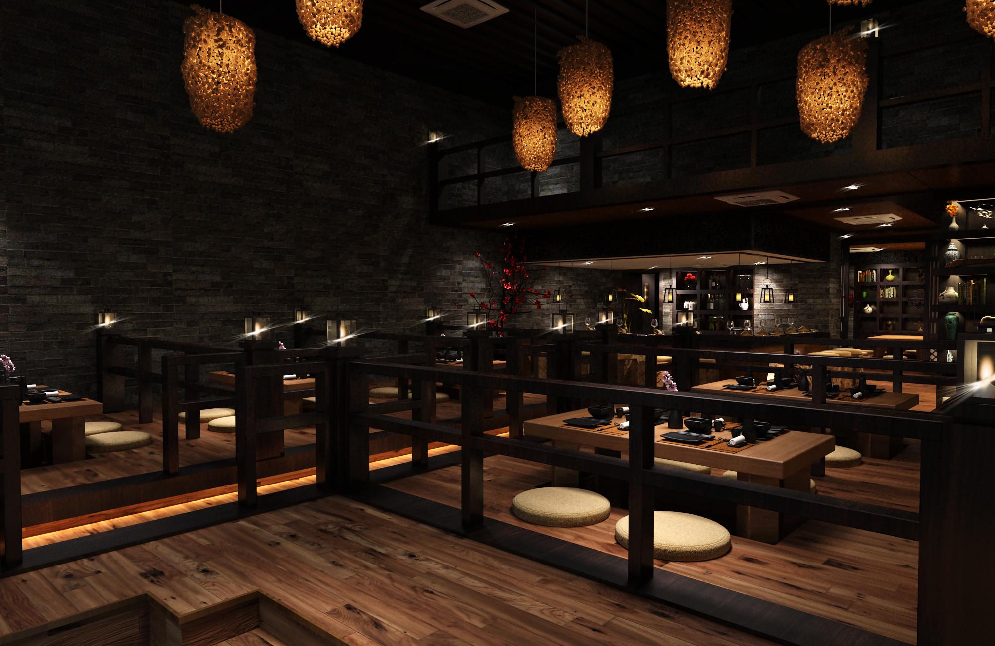 日式风格餐厅装修榻榻米设计