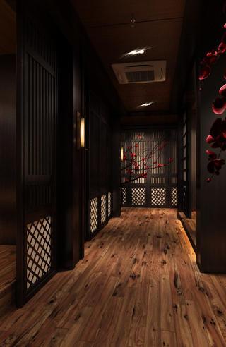 日式风格餐厅装修走道图片