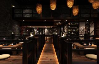 日式风格餐厅装修大厅用餐区