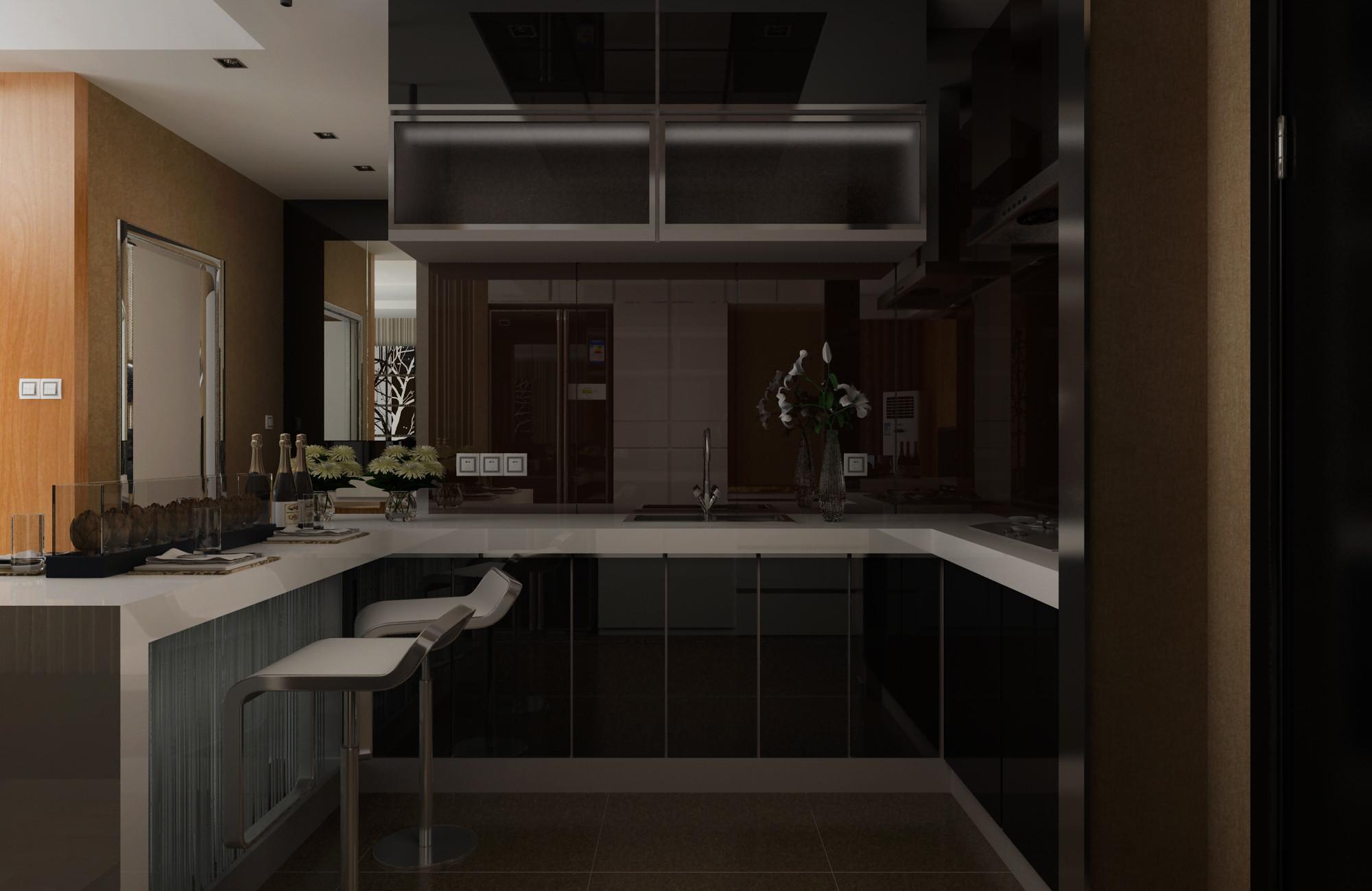 现代简约装修厨房设计