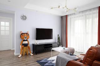 北欧风三居之家电视背景墙图片
