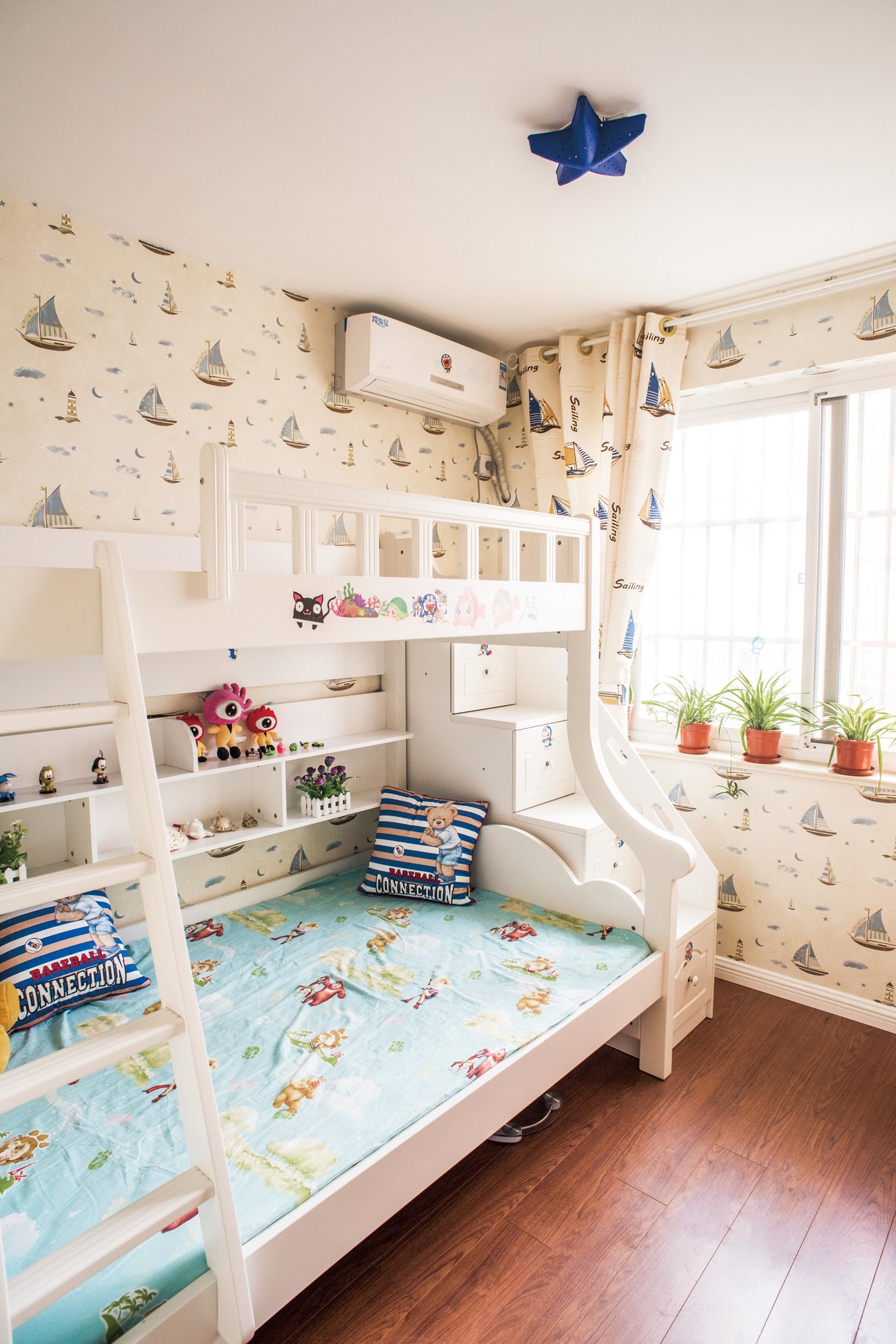 复式田园风格家儿童房设计图