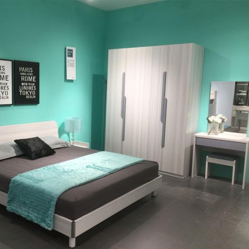 阔迩登 卧房6件套(1.8M床+床头柜2个+衣柜+妆台+妆凳)