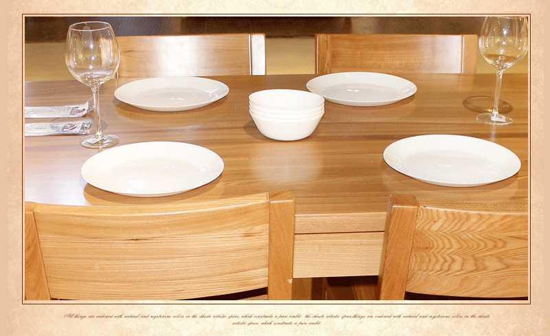 居美印尚 北欧现代风格 高档榆木一桌四椅