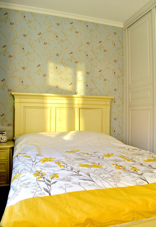 美式风格二居装修床头背景墙图片