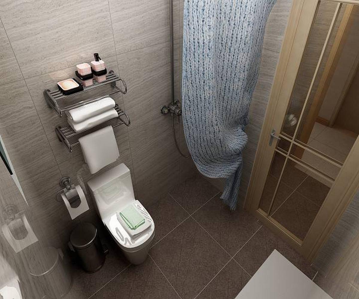 100㎡三居室卫生间设计图