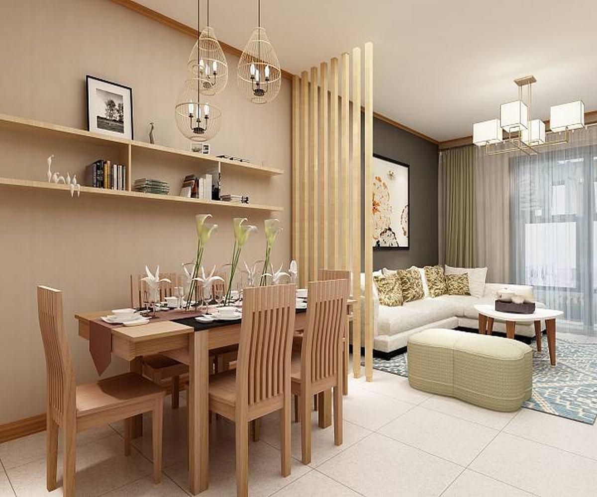 100㎡三居室设计餐厅效果图