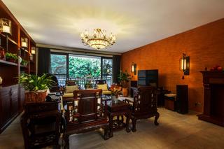 大户型中式风格装修客厅布置图